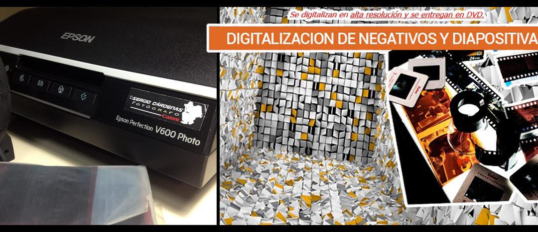 Servicio de Digitalización- Fotos/ negativos 35mm/ dipositivas/ documentos & papeles